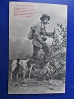Cpa LE CHEMINEAU Avec Son Chien  - Phototypie A. Bergeret A Nancy - Voyagée En 1906 - Tbe - Bergeret