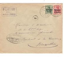 SJ95/ TP Oc 3-12 S/L.Entête Médart Tilleur C.Tilleur 1916 Censure Lüttich Cachet Facteur 3 V.BXL - Guerre 14-18