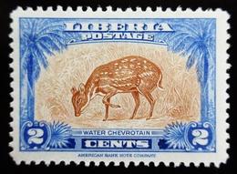 1942 LIBERIA YT 258 . Water Chevrotain (Hyemoschus Aquaticus) - Liberia