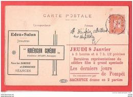 CP PUB JEMAPPES Eden Salon American Cinema Séances Tous Les Samedis Et Dimanches  7 I 1914 - Belgique