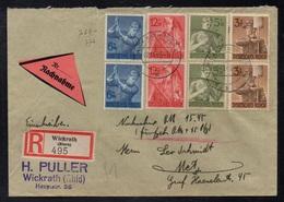 WICKRATH - ALLEMAGNE - III REICH / 1943 LETTRE  CONTRE REMBOURSEMENT POUR METZ - NACHNAHME (ref LE3360) - Lettres & Documents