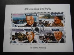 Maldives 2014 - 2e GM - 70e Anniversaire D-Day - Personnages Historiques - Bloc De 4 - WO2