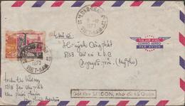 S.VIETNAM  SLOGAN  On 1972 Cover From LONG THANH    Ref.  TT1 - Viêt-Nam