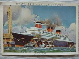 CP- Paquebot S/s Normandie, Aquarelle De R.Brenet, Non Circulé, BE - Steamers