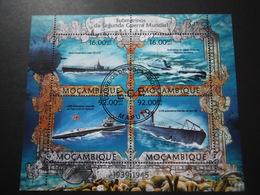 Mozambique 2013 - 2e GM - Sous Marins - Bloc De 4 - 2. Weltkrieg
