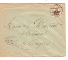 SJ96/ TP Oc 15 S/L.c.Val St.Lambert 1917 Censure Lüttich V.Tongres - Guerre 14-18