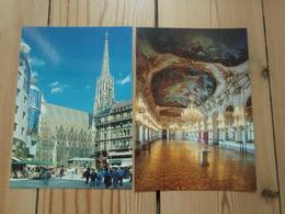 2 Cp Vienne Palais Schönbrunn, Grande Galerie. Wien Cathédrale De St-Etienne. Belles Cartes - Château De Schönbrunn