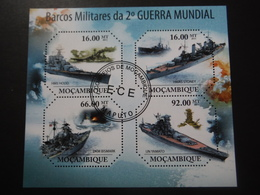 Mozambique 2011 - 2e GM - Vaisseaux De Guerre - Bloc De 4 - 2. Weltkrieg