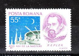 Romania  -  1971. Keplero. MNH - Astronomia