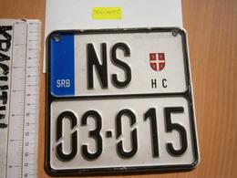 SERBIA MOTOR MOTORCYCLE LICENSE PLATE FORMER YUGOSLAVIA MOTORRAD NUMMERNSCHILD TARGA PLAQUE D'IMMATRICULATION - Number Plates