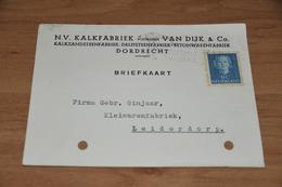 62-    BEDRIJFSKAART N.V. KALKFABRIEK Voorheen VAN DIJK & CO. - DORDRECHT - 1950 - Kaarten