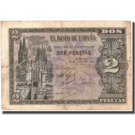 Billet, Espagne, 2 Pesetas, 1938, 1938-04-30, KM:109a, TTB - [ 3] 1936-1975 : Régence De Franco