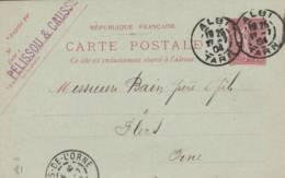 """Albi  - Cachet Magasin """" PELISSOU Et CAUSSE    """" Sur  Entier Postal - Scan Recto-verso - Enteros Postales"""