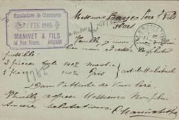 """Avignon  -  Cachet  """"MANUFACTURE De CHAUSSURES  MANIVET Et Fils    """" Sur  Entier Postal - Scan Recto-verso - Enteros Postales"""