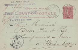 "Castres  - Cachet Magasin  "" JULES LEBRUN    "" Sur  Entier Postal - Scan Recto-verso - Enteros Postales"