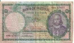 PORTUGAL 20 ESCUDOS 1954 VF P 153 A - Portugal