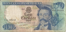 PORTUGAL 100 ESCUDOS 1978 VF P 169 B - Portugal