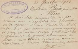 """Paris -   Cachet Magasin  """" L. JOUSSIER  8 Rue Beauregard """" Sur  Entier Postal - Scan Recto-verso - Enteros Postales"""