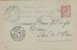 "Paris -   Cachet Magasin  "" SMITH  49 Faubourg St Antoine "" Sur  Entier Postal - Scan Recto-verso - Enteros Postales"