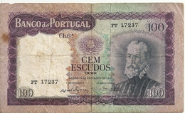 PORTUGAL 100 ESCUDOS 1961 VG+ P 165 - Portugal