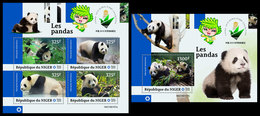NIGER 2019 - Pandas, M/S + S/S. Official Issue - Niger (1960-...)