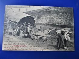 LES ROMANICHELS - Les Gens Du Voyage - Gros Plan  - Bergeret Editeur - Parti De Palinges Pour Le Creusot En 1904 - Tbe - Francia