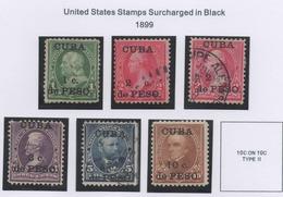 Cuba 1899 U.S.A Overprint Stamps. - Cuba