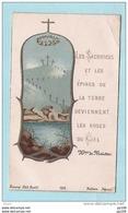 Ancienne Image Pieuse : épines De La Terre Deviennent Les Roses Du Ciel  BONAMY 198 Poitiers - Images Religieuses