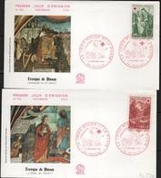 FDC 209 - FRANCE N° 1661/62 Croix-Rouge Sur 2 FDC 1970 - FDC