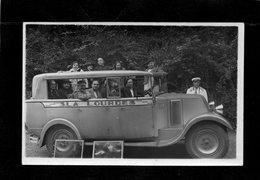 65 LOURDES Société S.L.A Carte Photo Trés Animée Vitres Déposées N° 122 Peint Sur Le Capot( Autocar Ou Autobus ) - Buses & Coaches