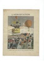 L'AEROSTATION Gambetta Spuller GODARD Et Le Siège De Paris Protège-cahier Bien +/- 1900 3 Scans - Copertine Di Libri