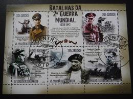Sao Tomé E Principe 2010 - 2e GM - Personnages Historiques - Bloc De 6 Tour Complet - WO2