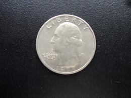ÉTATS UNIS D'AMÉRIQUE : ¼ DOLLAR   1977   KM A164a     SUP+ - Federal Issues