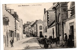 Pont-Croix - 3556 - La Rue Du Collège & Vue Générale L'arrivée - édit Villard Quimper - Pont-Croix