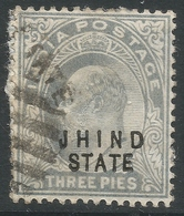Jind State(India). 1903-1909 KEVII, 3p Used. SG41 - Jhind