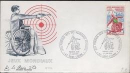 FDC 217 - FRANCE N° 1649 Jeux Mondiaux Des Handicapés Physiques Sur FDC 1970 - FDC