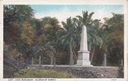 POSTAL DE HONOLULU DE CAPT. COOK MONUMENT (HAWAII) - Honolulu