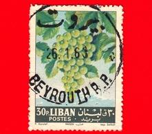 LIBANO - Libanon - Usato - 1962 - Frutta - Fruit - Uva - Grapes -  Vitis Vinifera - 30 - Libano