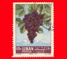 LIBANO - Libanon - Usato - 1962 - Frutta - Uva - Grapes -  Vitis Vinifera - 10 - Libano