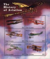 Ref. 599702 * NEW *  - GAMBIA . 1998. HISTORY OF AVIATION. HISTORIA DE LA AVIACION - Gambia (1965-...)