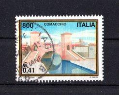 ITALIA - Turistica 28a Serie  COMACCHIO  1 Val.   USATO  Emissione  Del   14.04.2001 - 2001-10: Afgestempeld