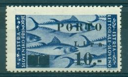 V9209 ITALIA OCCUPAZIONI ISTRIA Litorale Sloveno 1946 Segnatasse 10 L. S. 17, MH*, Val. Cat. € 38, Buone Condizioni - Yugoslavian Occ.: Slovenian Shore