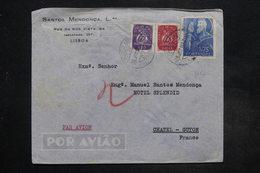 PORTUGAL - Enveloppe Commerciale De Lisbonne Pour La France , Affranchissement Plaisant  - L 27266 - 1910-... République