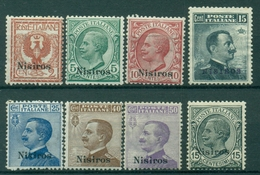 V9232 ITALIA OCCUPAZIONI EGEO NISIRO 1912-22 Sovrastampati, MH*, Val. Cat. € 130, Buone Condizioni (MC) - Aegean (Nisiro)