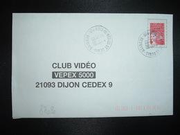 LETTRE TP M. DE LUQUET TVP ROUGE OBL.24-6 1998 974 BOIS DE NEFLES ST DENIS REUNION - Postmark Collection (Covers)