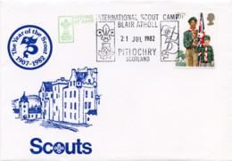 Ref. 265972 * USED *  - GREAT BRITAIN . 1982. 75th ANNIVERSARY OF THE SCOUTS. 75 ANIVERSARIO DEL ESCULTISMO - 1952-.... (Elizabeth II)