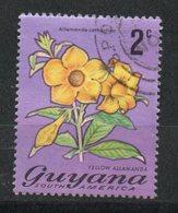 Ref: 1276. Guyana. Flora. Yellow Allmanda - Guyana (1966-...)