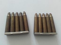 2 Clip Cartouches à Blanc Fabrication FN Belge - Armes Neutralisées