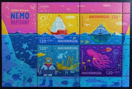 HUNGARY 2019. Youth: Captain Nero, Ships, Animals / Fish, Duck, Marine Life Sheet MNH (**) - Vita Acquatica
