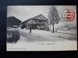 CPA SUISSE LEYSIN SPORT COURSE DE LUGES ENFANTS DEPART - VD Vaud